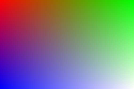 red, green, and blue gradient image